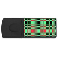Bright Christmas Abstract Background Christmas Colors Of Red Green And Black Make Up This Abstract USB Flash Drive Rectangular (1 GB)