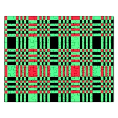 Bright Christmas Abstract Background Christmas Colors Of Red Green And Black Make Up This Abstract Rectangular Jigsaw Puzzl
