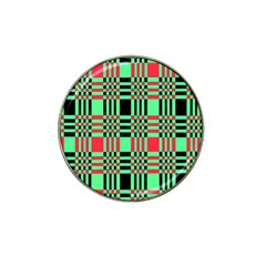 Bright Christmas Abstract Background Christmas Colors Of Red Green And Black Make Up This Abstract Hat Clip Ball Marker (4 Pack)