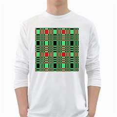Bright Christmas Abstract Background Christmas Colors Of Red Green And Black Make Up This Abstract White Long Sleeve T-Shirts