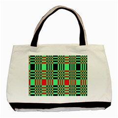 Bright Christmas Abstract Background Christmas Colors Of Red Green And Black Make Up This Abstract Basic Tote Bag