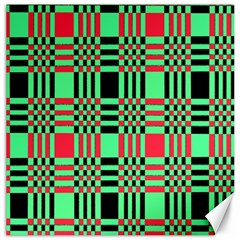 Bright Christmas Abstract Background Christmas Colors Of Red Green And Black Make Up This Abstract Canvas 16  X 16