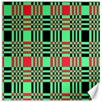 Bright Christmas Abstract Background Christmas Colors Of Red Green And Black Make Up This Abstract Canvas 16  x 16   16 x16 Canvas - 1