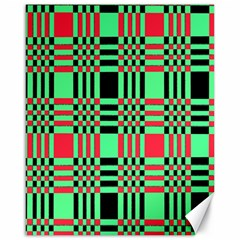 Bright Christmas Abstract Background Christmas Colors Of Red Green And Black Make Up This Abstract Canvas 16  x 20