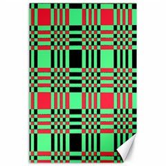 Bright Christmas Abstract Background Christmas Colors Of Red Green And Black Make Up This Abstract Canvas 24  X 36