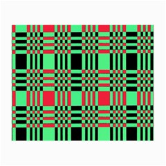 Bright Christmas Abstract Background Christmas Colors Of Red Green And Black Make Up This Abstract Small Glasses Cloth (2 Side)