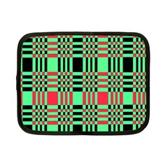 Bright Christmas Abstract Background Christmas Colors Of Red Green And Black Make Up This Abstract Netbook Case (small)