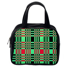 Bright Christmas Abstract Background Christmas Colors Of Red Green And Black Make Up This Abstract Classic Handbags (One Side)