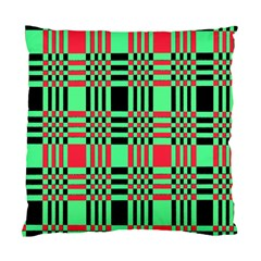 Bright Christmas Abstract Background Christmas Colors Of Red Green And Black Make Up This Abstract Standard Cushion Case (One Side)