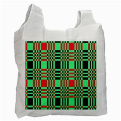 Bright Christmas Abstract Background Christmas Colors Of Red Green And Black Make Up This Abstract Recycle Bag (one Side)