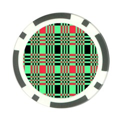 Bright Christmas Abstract Background Christmas Colors Of Red Green And Black Make Up This Abstract Poker Chip Card Guard (10 Pack)