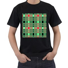 Bright Christmas Abstract Background Christmas Colors Of Red Green And Black Make Up This Abstract Men s T Shirt (black)