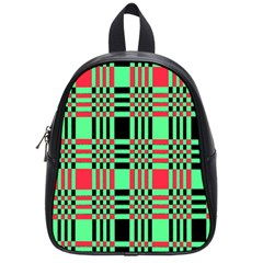 Bright Christmas Abstract Background Christmas Colors Of Red Green And Black Make Up This Abstract School Bags (small)