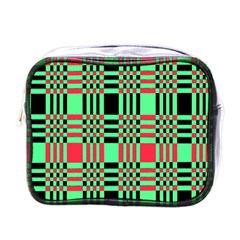 Bright Christmas Abstract Background Christmas Colors Of Red Green And Black Make Up This Abstract Mini Toiletries Bags