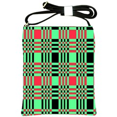 Bright Christmas Abstract Background Christmas Colors Of Red Green And Black Make Up This Abstract Shoulder Sling Bags