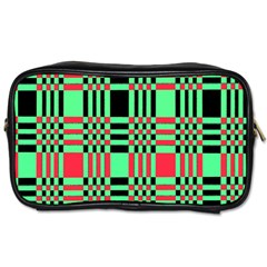 Bright Christmas Abstract Background Christmas Colors Of Red Green And Black Make Up This Abstract Toiletries Bags 2 Side