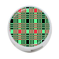 Bright Christmas Abstract Background Christmas Colors Of Red Green And Black Make Up This Abstract 4-Port USB Hub (Two Sides)