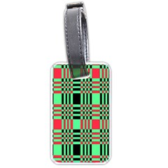Bright Christmas Abstract Background Christmas Colors Of Red Green And Black Make Up This Abstract Luggage Tags (one Side)