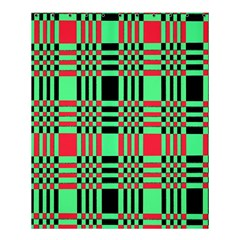 Bright Christmas Abstract Background Christmas Colors Of Red Green And Black Make Up This Abstract Shower Curtain 60  X 72  (medium)