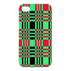 Bright Christmas Abstract Background Christmas Colors Of Red Green And Black Make Up This Abstract Apple Iphone 4/4s Hardshell Case