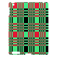 Bright Christmas Abstract Background Christmas Colors Of Red Green And Black Make Up This Abstract Apple Ipad 3/4 Hardshell Case
