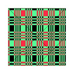 Bright Christmas Abstract Background Christmas Colors Of Red Green And Black Make Up This Abstract Acrylic Tangram Puzzle (6  X 6 )