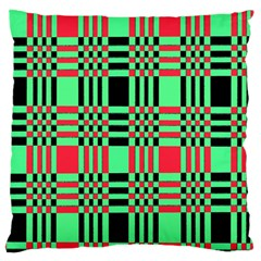 Bright Christmas Abstract Background Christmas Colors Of Red Green And Black Make Up This Abstract Large Cushion Case (one Side)