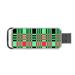 Bright Christmas Abstract Background Christmas Colors Of Red Green And Black Make Up This Abstract Portable USB Flash (Two Sides)