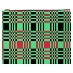Bright Christmas Abstract Background Christmas Colors Of Red Green And Black Make Up This Abstract Cosmetic Bag (xxxl)