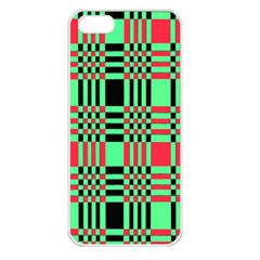 Bright Christmas Abstract Background Christmas Colors Of Red Green And Black Make Up This Abstract Apple iPhone 5 Seamless Case (White)
