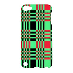 Bright Christmas Abstract Background Christmas Colors Of Red Green And Black Make Up This Abstract Apple iPod Touch 5 Hardshell Case