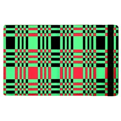 Bright Christmas Abstract Background Christmas Colors Of Red Green And Black Make Up This Abstract Apple Ipad 3/4 Flip Case