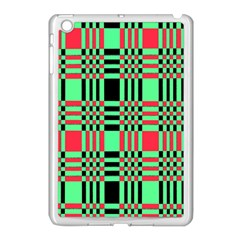 Bright Christmas Abstract Background Christmas Colors Of Red Green And Black Make Up This Abstract Apple iPad Mini Case (White)