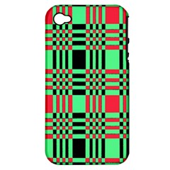 Bright Christmas Abstract Background Christmas Colors Of Red Green And Black Make Up This Abstract Apple iPhone 4/4S Hardshell Case (PC+Silicone)