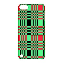 Bright Christmas Abstract Background Christmas Colors Of Red Green And Black Make Up This Abstract Apple iPod Touch 5 Hardshell Case with Stand