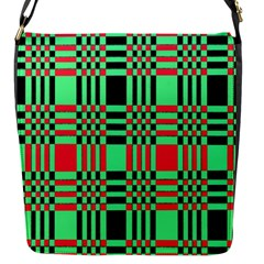 Bright Christmas Abstract Background Christmas Colors Of Red Green And Black Make Up This Abstract Flap Messenger Bag (s)
