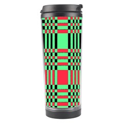 Bright Christmas Abstract Background Christmas Colors Of Red Green And Black Make Up This Abstract Travel Tumbler