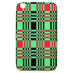 Bright Christmas Abstract Background Christmas Colors Of Red Green And Black Make Up This Abstract Samsung Galaxy Tab 3 (8 ) T3100 Hardshell Case