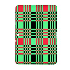 Bright Christmas Abstract Background Christmas Colors Of Red Green And Black Make Up This Abstract Samsung Galaxy Tab 2 (10 1 ) P5100 Hardshell Case