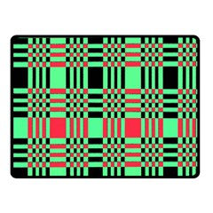 Bright Christmas Abstract Background Christmas Colors Of Red Green And Black Make Up This Abstract Double Sided Fleece Blanket (small)