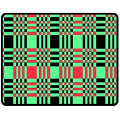 Bright Christmas Abstract Background Christmas Colors Of Red Green And Black Make Up This Abstract Double Sided Fleece Blanket (medium)