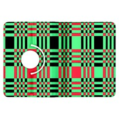 Bright Christmas Abstract Background Christmas Colors Of Red Green And Black Make Up This Abstract Kindle Fire Hdx Flip 360 Case