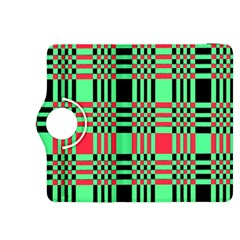 Bright Christmas Abstract Background Christmas Colors Of Red Green And Black Make Up This Abstract Kindle Fire HDX 8.9  Flip 360 Case