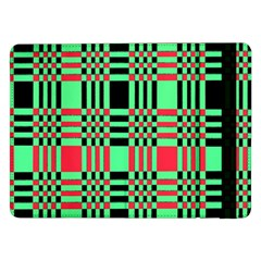 Bright Christmas Abstract Background Christmas Colors Of Red Green And Black Make Up This Abstract Samsung Galaxy Tab Pro 12 2  Flip Case