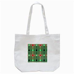 Bright Christmas Abstract Background Christmas Colors Of Red Green And Black Make Up This Abstract Tote Bag (White)
