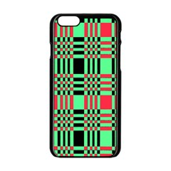 Bright Christmas Abstract Background Christmas Colors Of Red Green And Black Make Up This Abstract Apple Iphone 6/6s Black Enamel Case