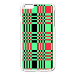 Bright Christmas Abstract Background Christmas Colors Of Red Green And Black Make Up This Abstract Apple Iphone 6 Plus/6s Plus Enamel White Case