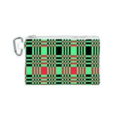 Bright Christmas Abstract Background Christmas Colors Of Red Green And Black Make Up This Abstract Canvas Cosmetic Bag (s)