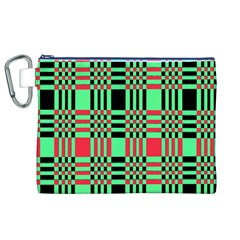 Bright Christmas Abstract Background Christmas Colors Of Red Green And Black Make Up This Abstract Canvas Cosmetic Bag (xl)