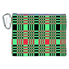Bright Christmas Abstract Background Christmas Colors Of Red Green And Black Make Up This Abstract Canvas Cosmetic Bag (xxl)
